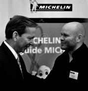 Michael Ellis, International Director Michelin en Bart van Berkel, auteur